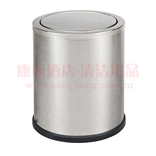 不锈钢翻盖垃圾桶