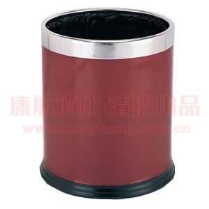双层枣红垃圾桶